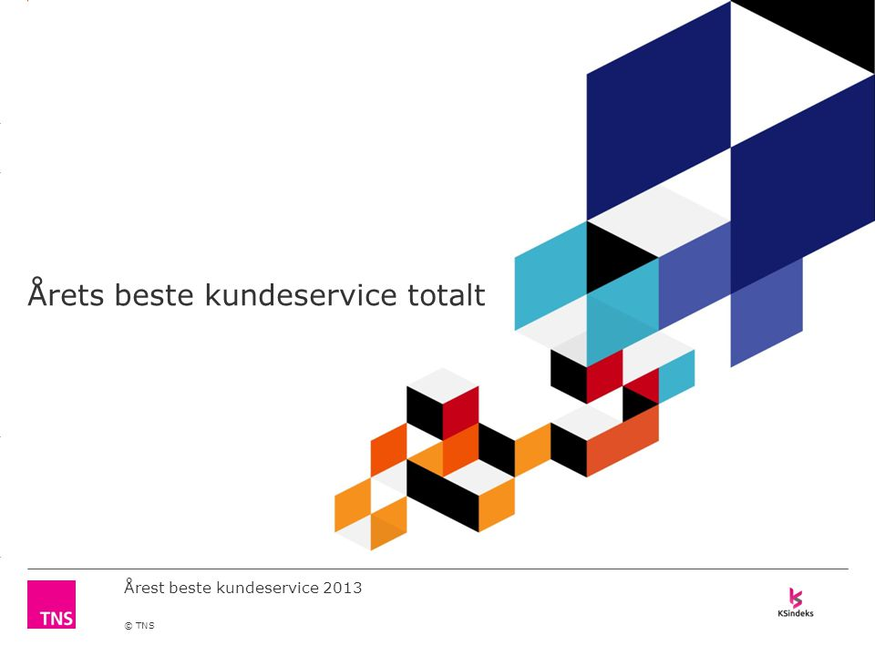 3.14 X AXIS 6.65 BASE MARGIN 5.95 TOP MARGIN 4.52 CHART TOP 11.90 LEFT MARGIN 11.90 RIGHT MARGIN DO NOT ALTER SLIDE MASTERS – THIS IS A TNS APPROVED TEMPLATE Årest beste kundeservice 2013 © TNS Årets beste kundeservice totalt
