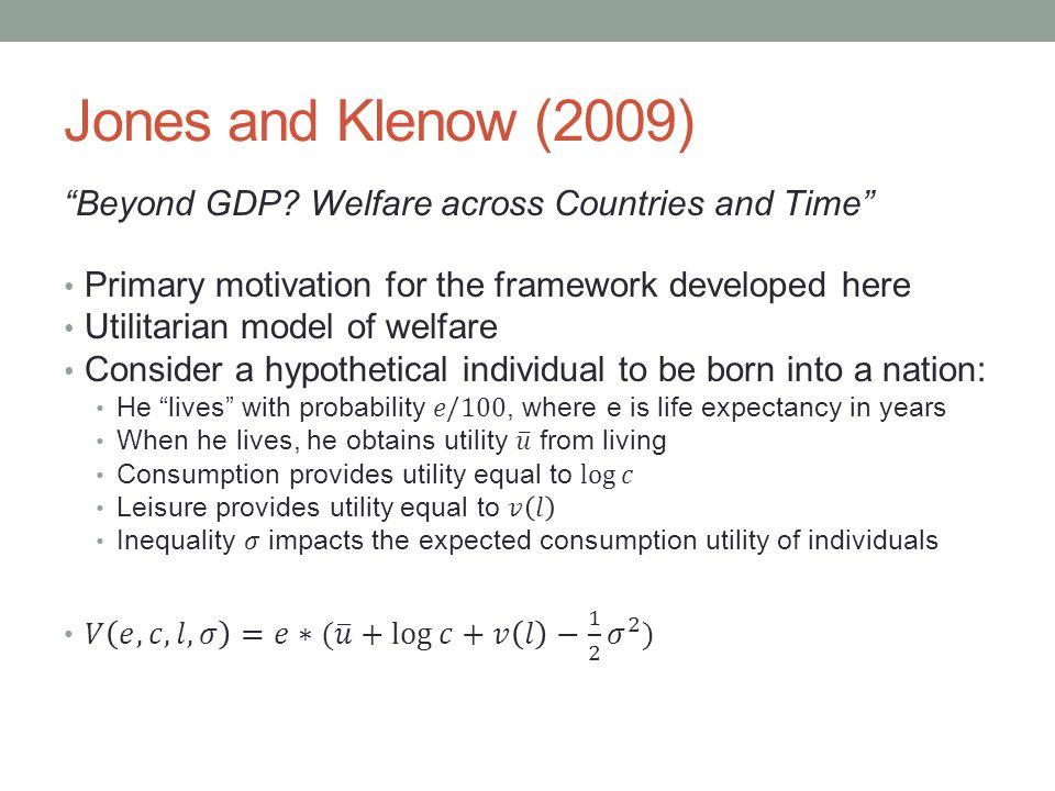 Jones and Klenow (2009)