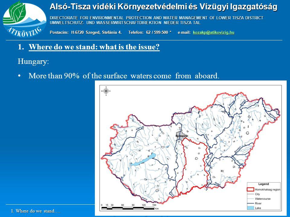 Alsó-Tisza vidéki Környezetvédelmi és Vízügyi Igazgatóság DIRECTORATE FOR ENVIRONMENTAL PROTECTION AND WATER MANAGEMENT OF LOWER TISZA DISTRICT UMWELTSCHUTZ- UND WASSERWIRTSCHAFTDIREKTION NIEDER TISZA TAL Postacím: H-6720 Szeged, Stefánia 4.