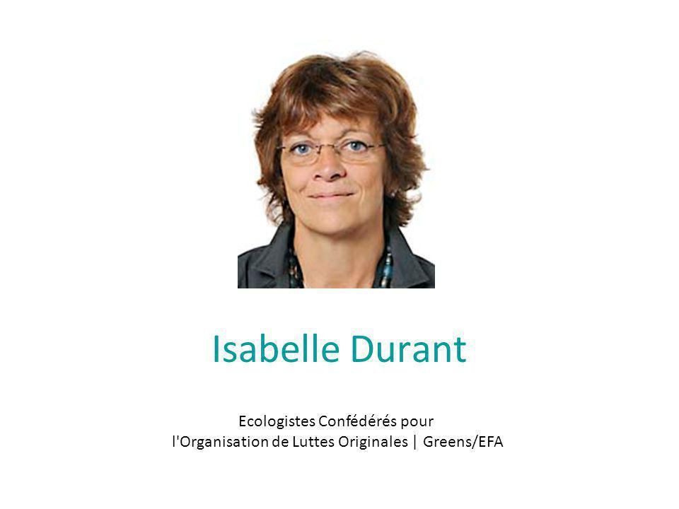Isabelle Durant Ecologistes Confédérés pour l Organisation de Luttes Originales | Greens/EFA