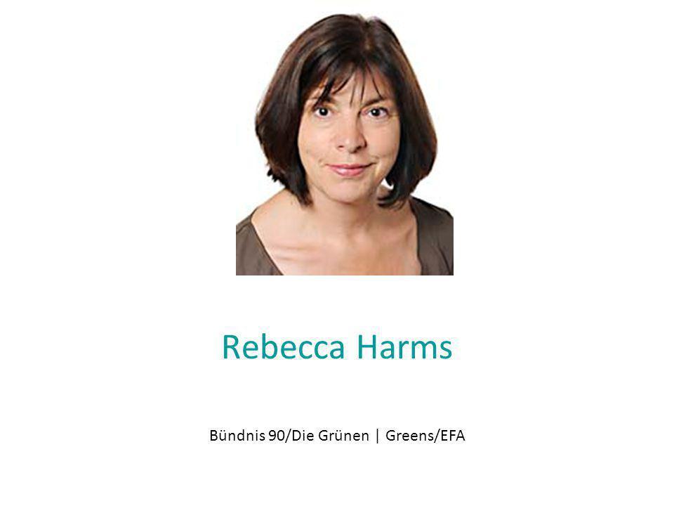 Rebecca Harms Bündnis 90/Die Grünen | Greens/EFA