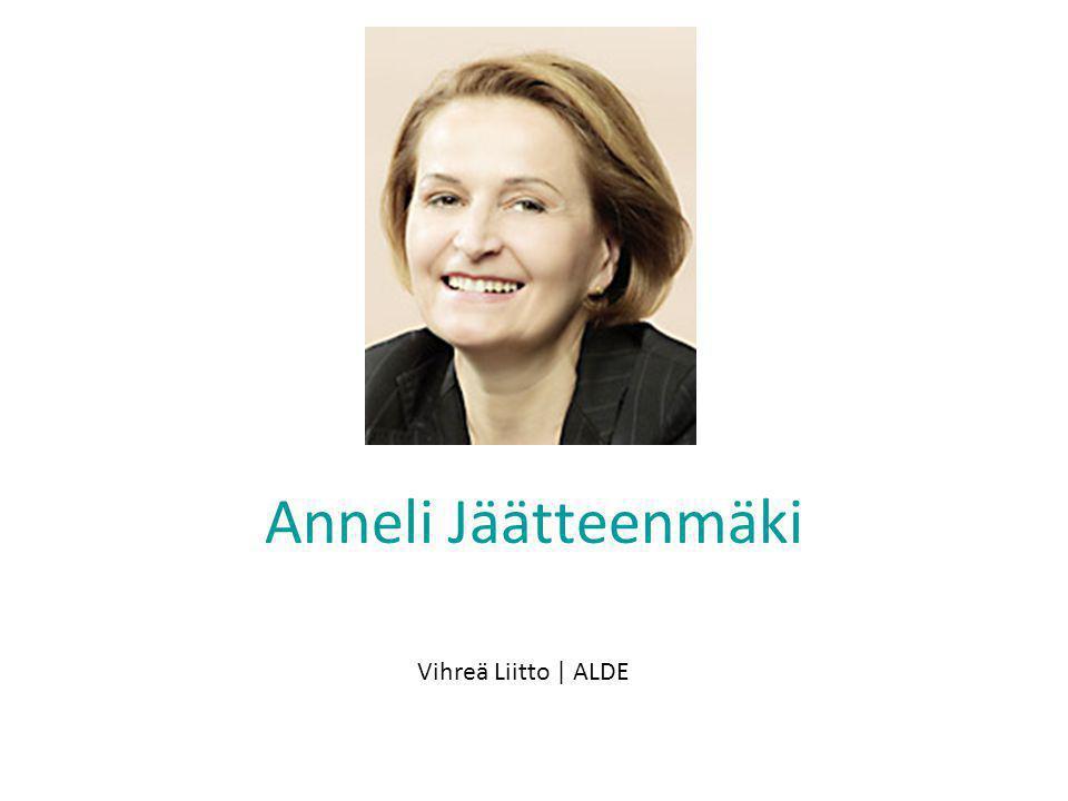 Anneli Jäätteenmäki Vihreä Liitto | ALDE