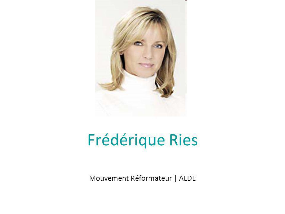 Frédérique Ries Mouvement Réformateur | ALDE
