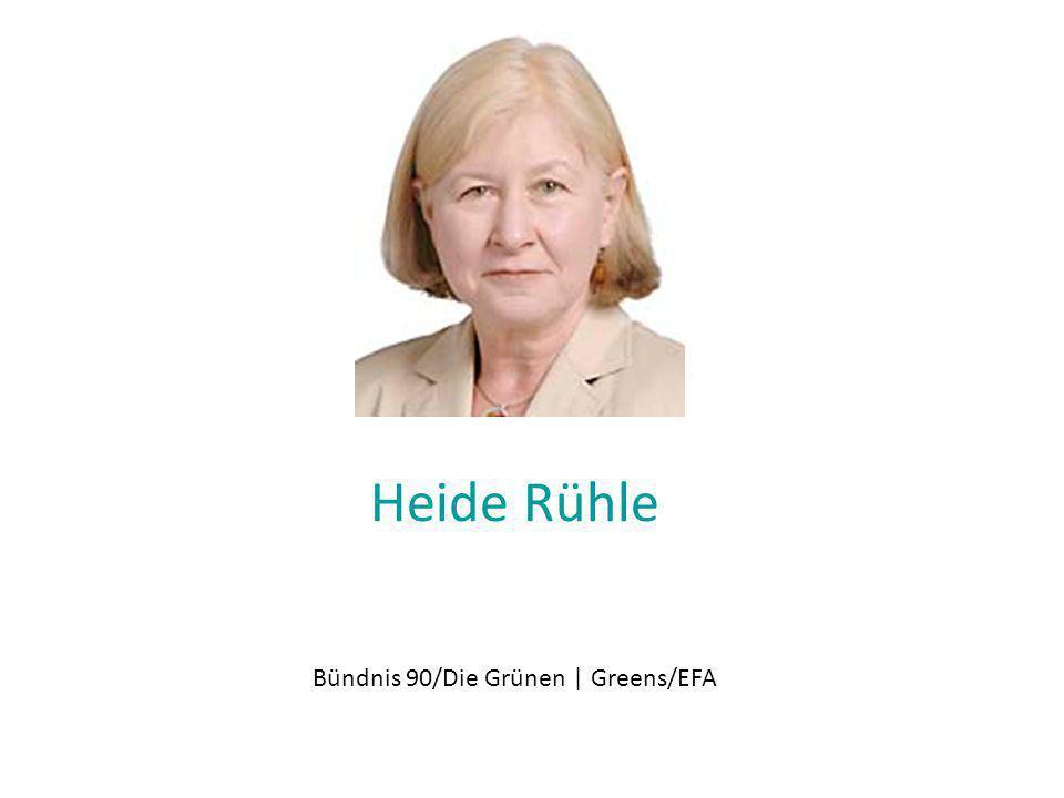 Heide Rühle Bündnis 90/Die Grünen | Greens/EFA