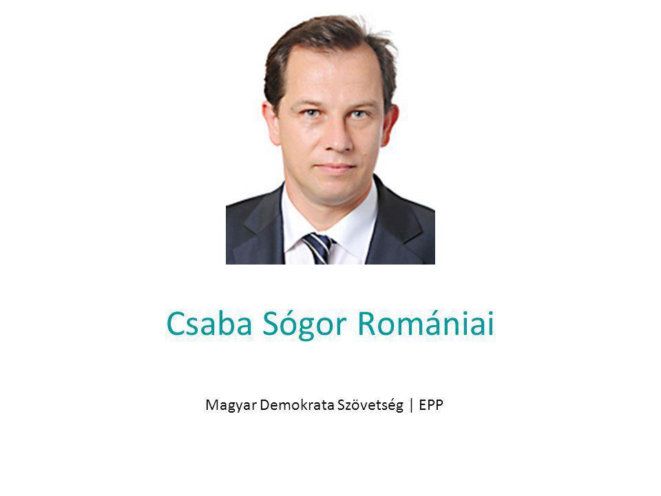 Csaba Sógor Romániai Magyar Demokrata Szövetség | EPP