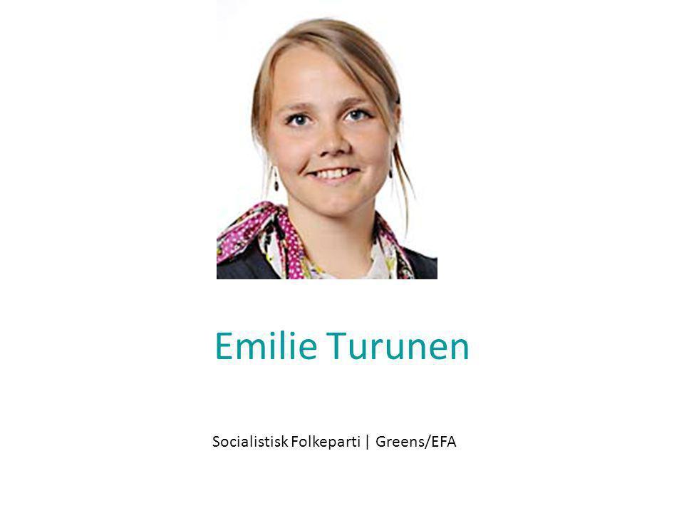 Emilie Turunen Socialistisk Folkeparti | Greens/EFA