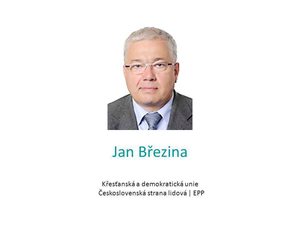 Jan Březina Křesťanská a demokratická unie Československá strana lidová | EPP