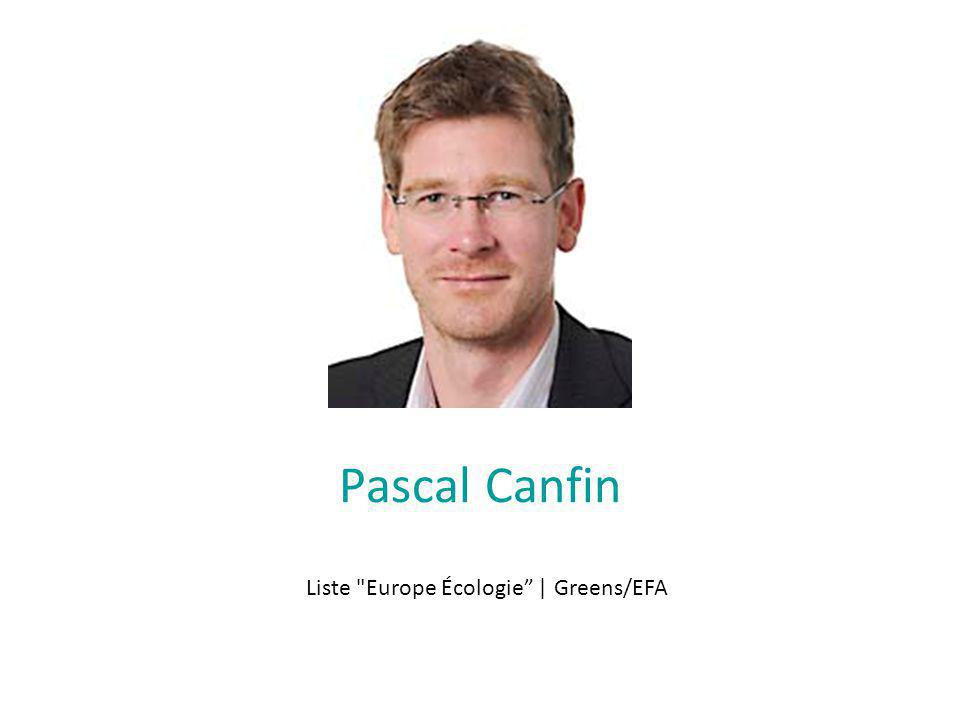 Pascal Canfin Liste Europe Écologie | Greens/EFA
