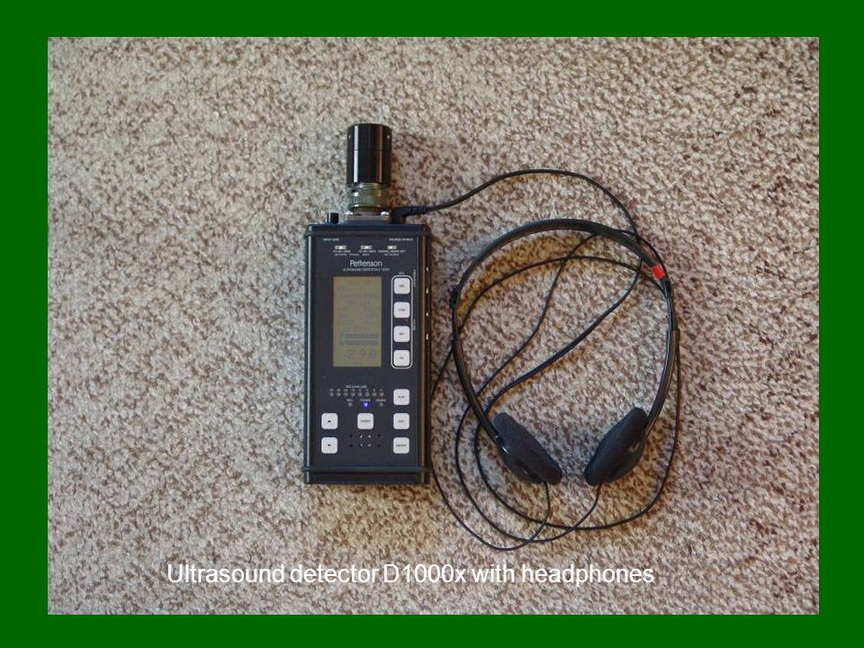 Ultrasound detector D1000x with headphones