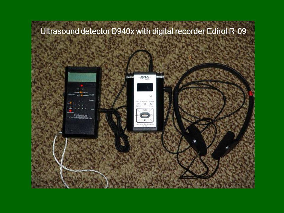 Ultrasound detector D940x with digital recorder Edirol R-09