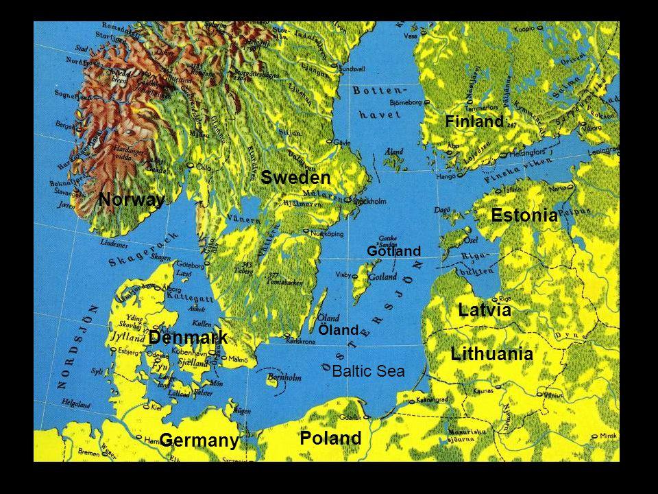 Baltic Sea Gotland Öland Sweden Denmark Germany Finland Estonia Latvia Lithuania Poland Norway