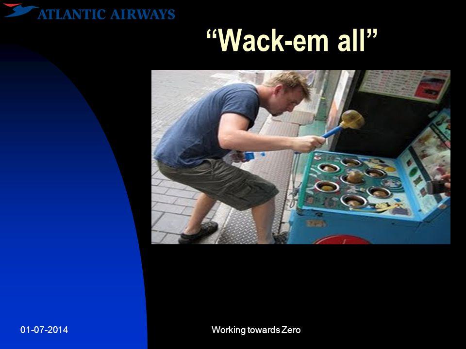 01-07-2014Working towards Zero Wack-em all