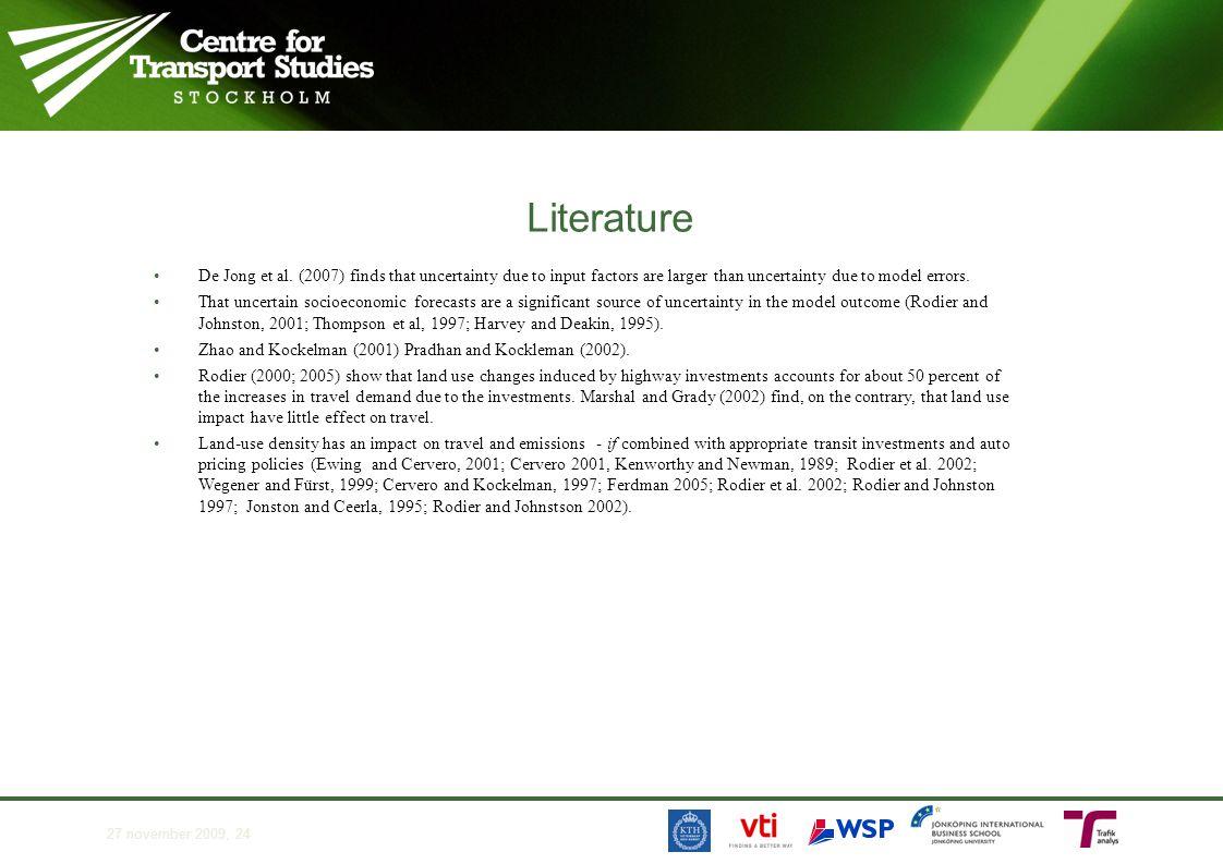 Literature •De Jong et al.