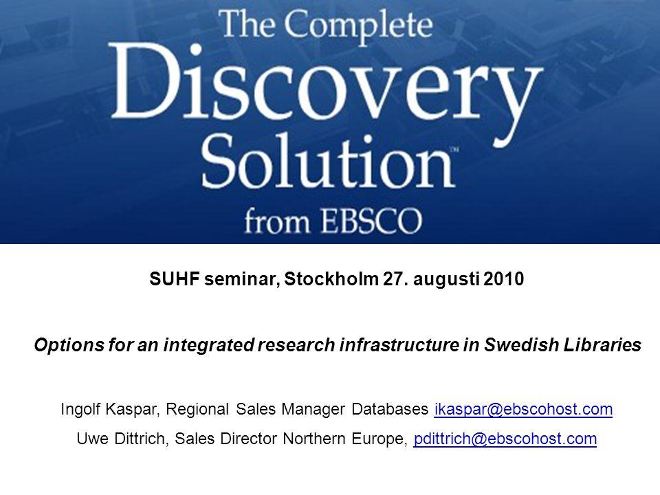 SUHF seminar, Stockholm 27.