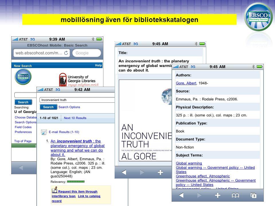 mobillösning även för bibliotekskatalogen