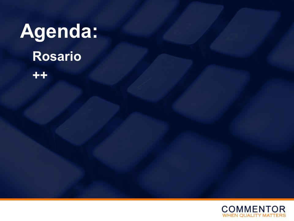 Rosario ++ Agenda: