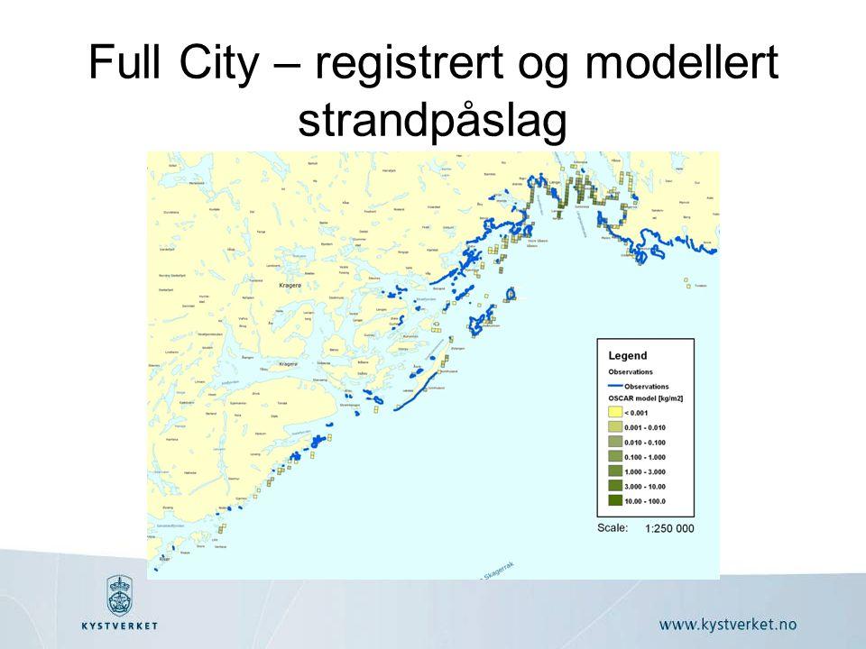 Full City – registrert og modellert strandpåslag