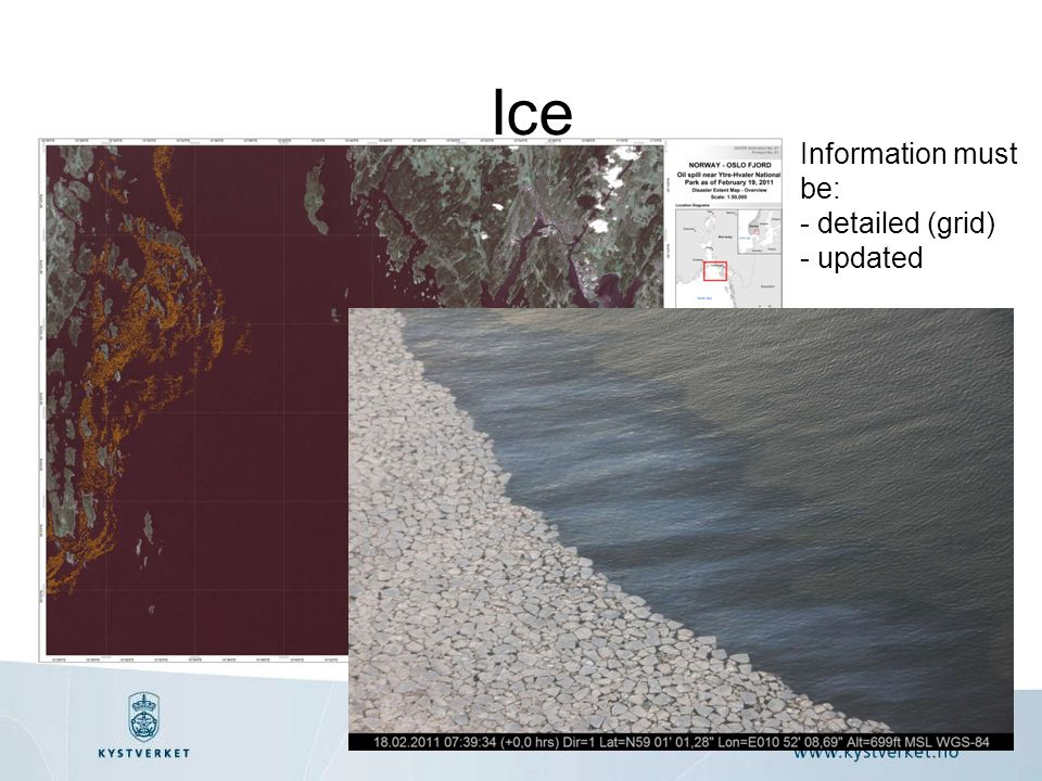 Ice Information must be: - detailed (grid) - updated