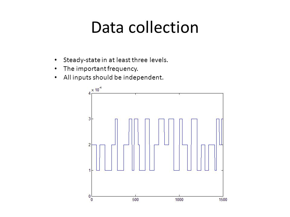 Data collection • Steady-state in at least three levels. • The important frequency. • All inputs should be independent.