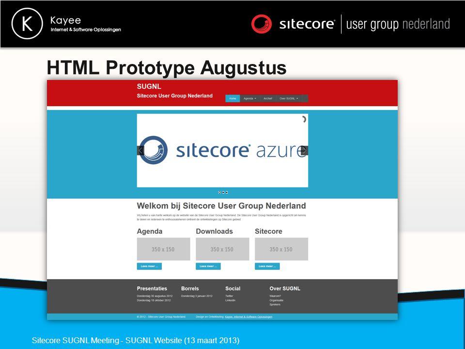 HTML Prototype Augustus Sitecore SUGNL Meeting - SUGNL Website (13 maart 2013)