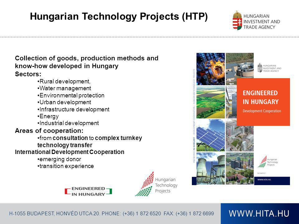 H-1055 BUDAPEST, HONVÉD UTCA 20. PHONE: (+36) 1 872 6520 FAX: (+36) 1 872 6699 Hungarian Technology Projects (HTP) Collection of goods, production met