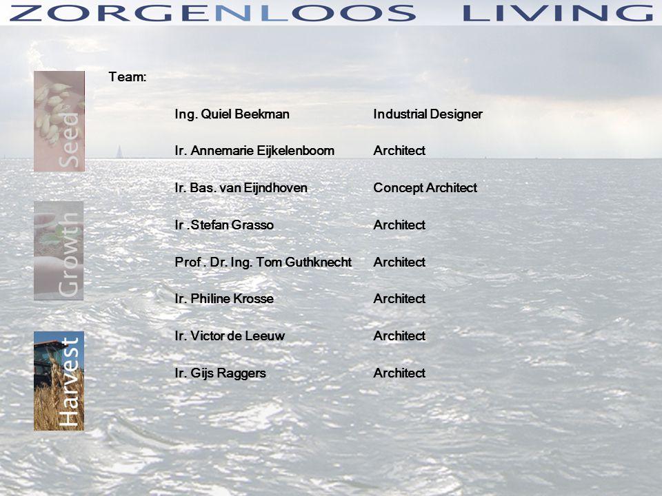 Team: Ing. Quiel BeekmanIndustrial Designer Ir. Annemarie EijkelenboomArchitect Ir.