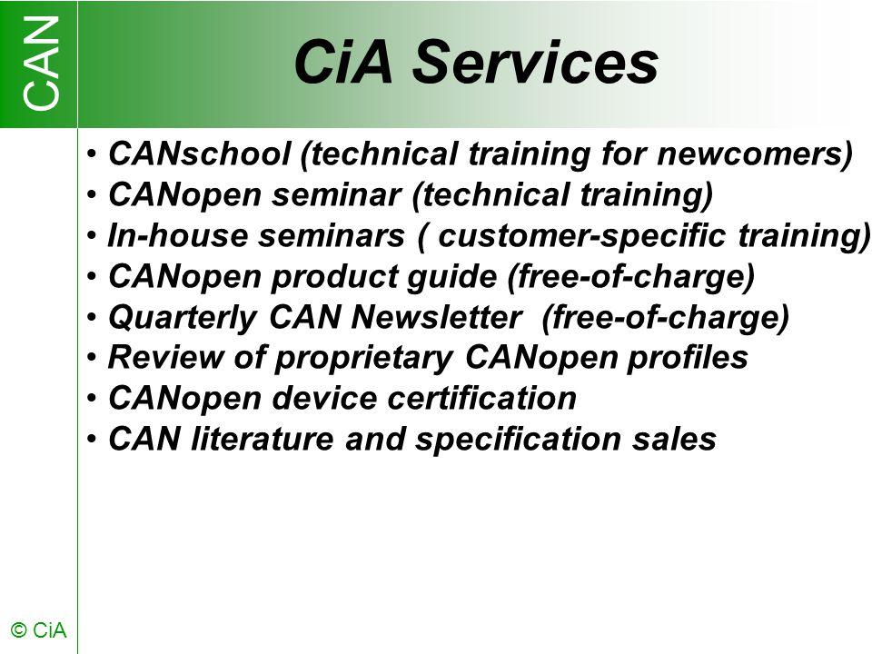 CAN © CiA CiA Members 1992-2003