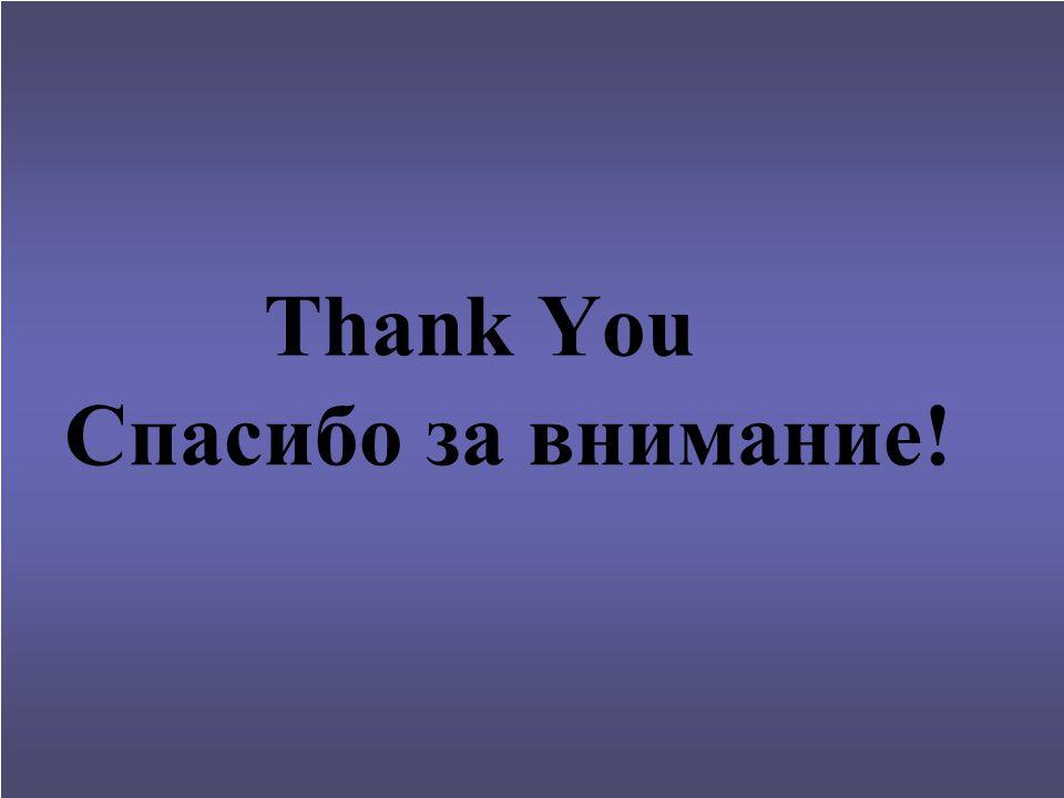 Thank You Спасибо за внимание!