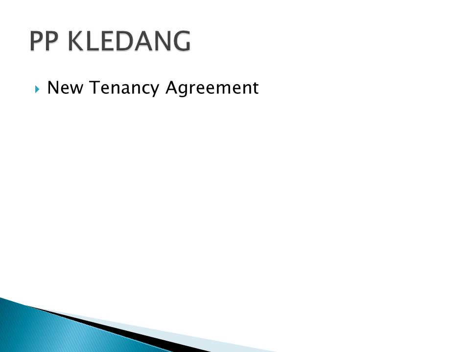  New Tenancy Agreement