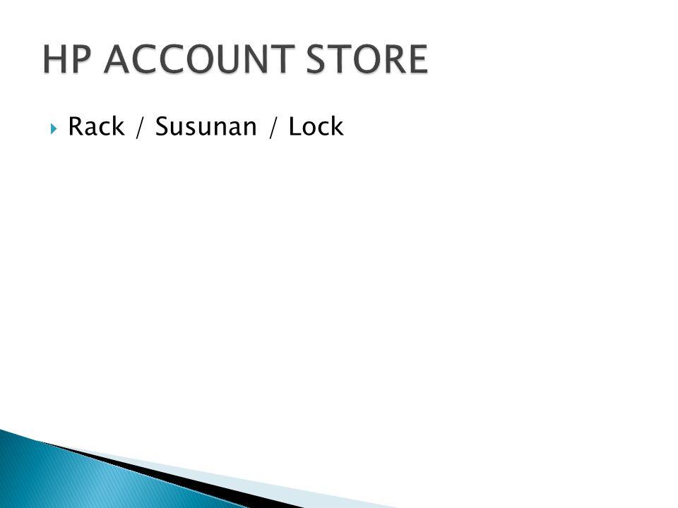  Rack / Susunan / Lock