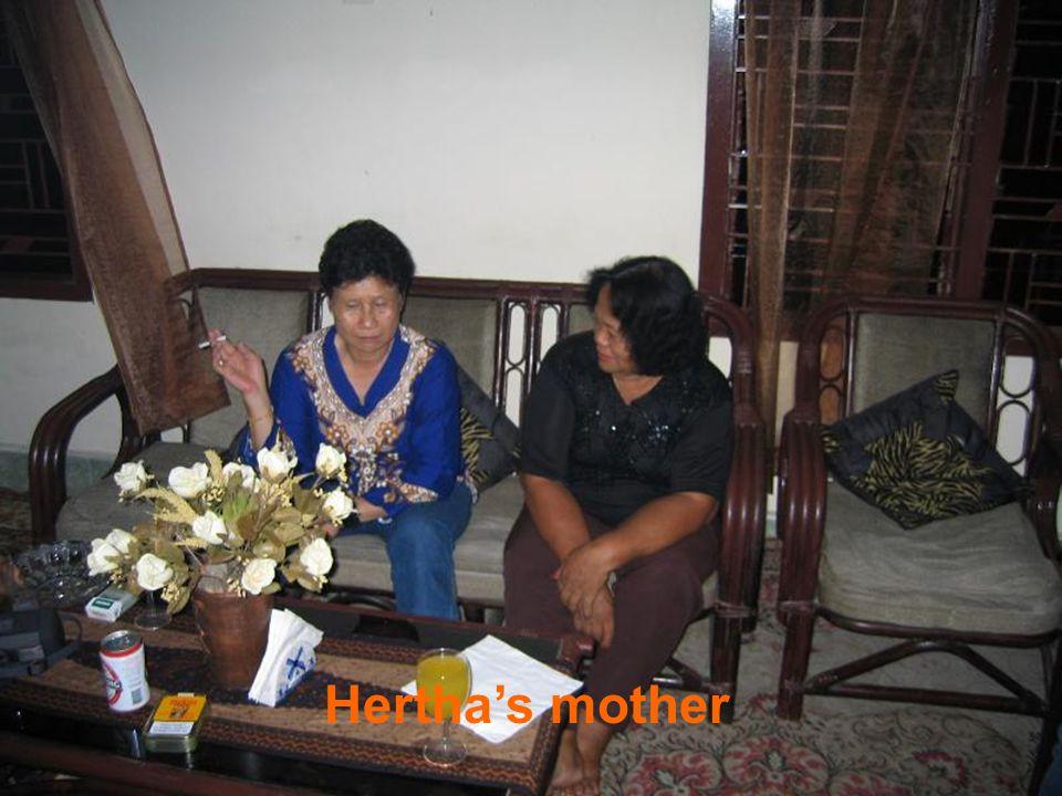 Visiting Hertha's family