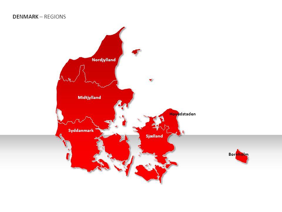 DENMARK – REGIONS Bornholm Nordjylland Midtjylland Syddanmark Sjælland Hovedstaden