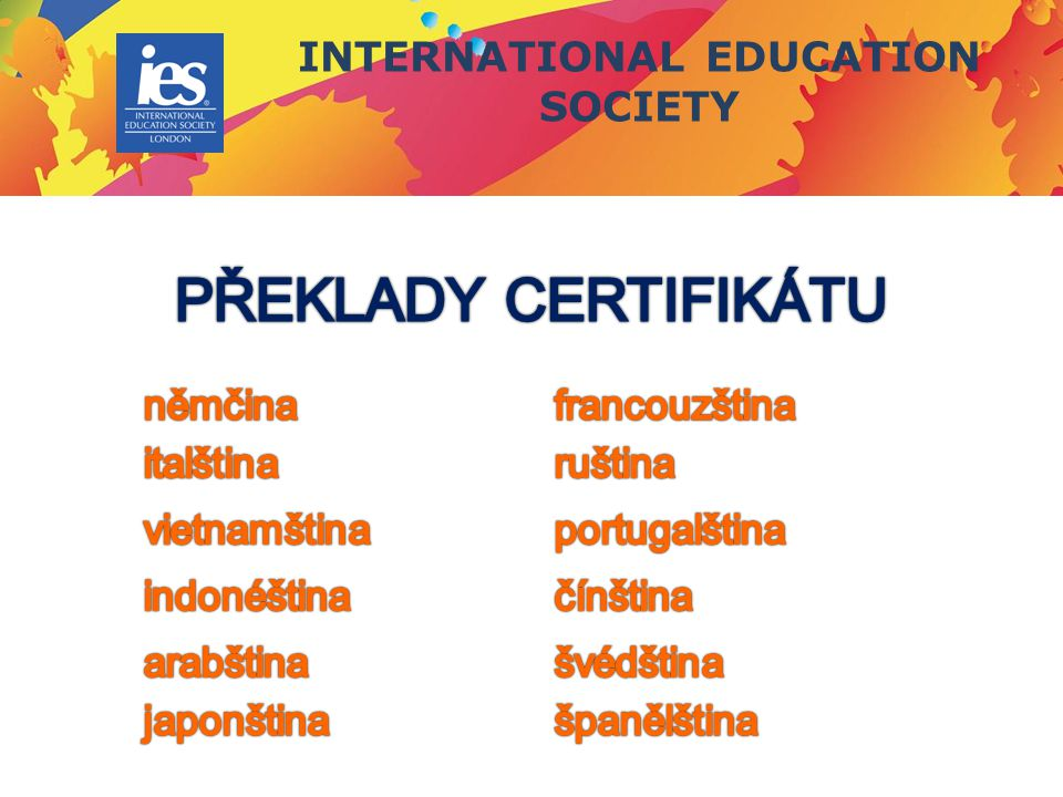 INTERNATIONAL EDUCATION SOCIETY