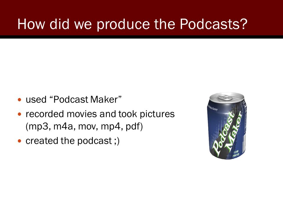 How did we produce the Podcasts.