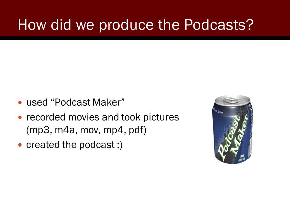 Screenshot of Podcast Maker