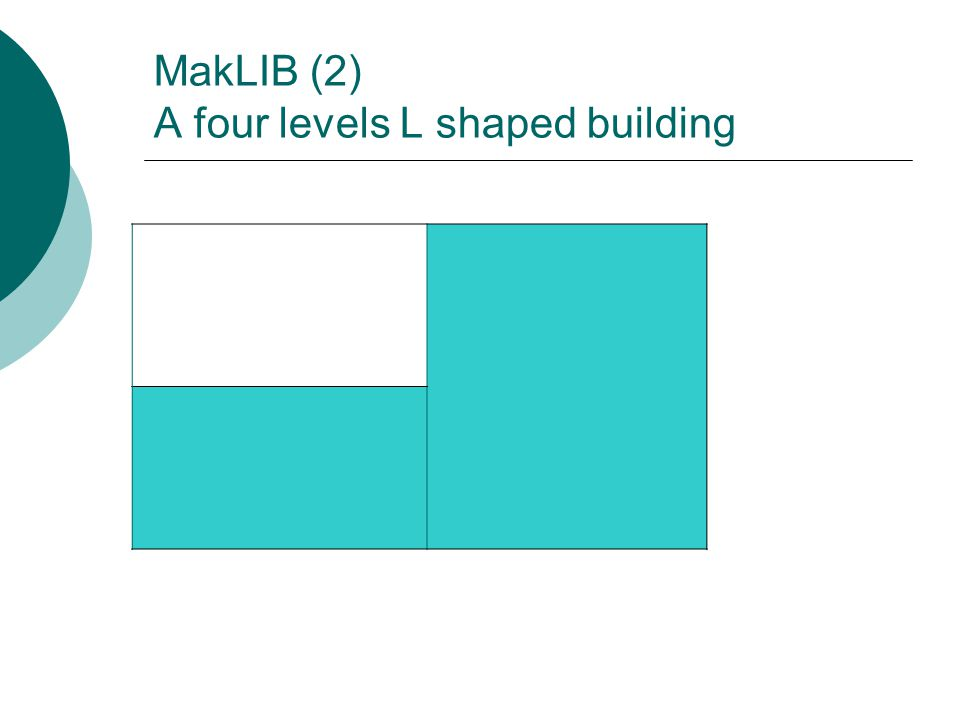 MakLIB (2) A four levels L shaped building