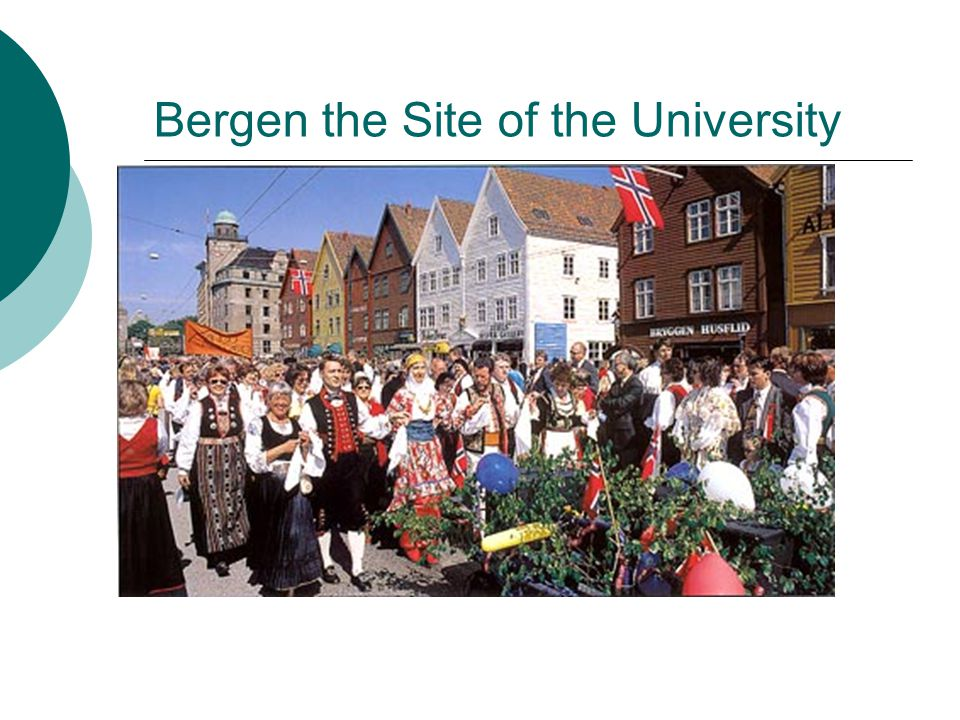 Bergen the Site of the University
