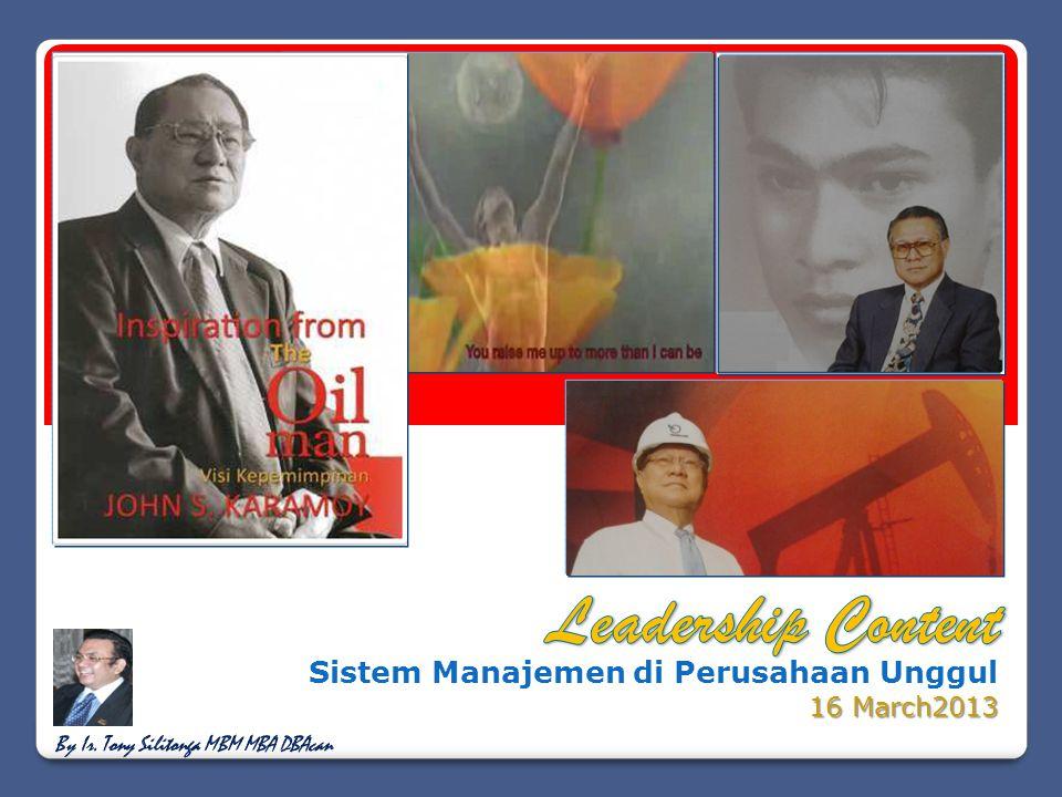Sistem Manajemen di Perusahaan Unggul 16 March2013 1