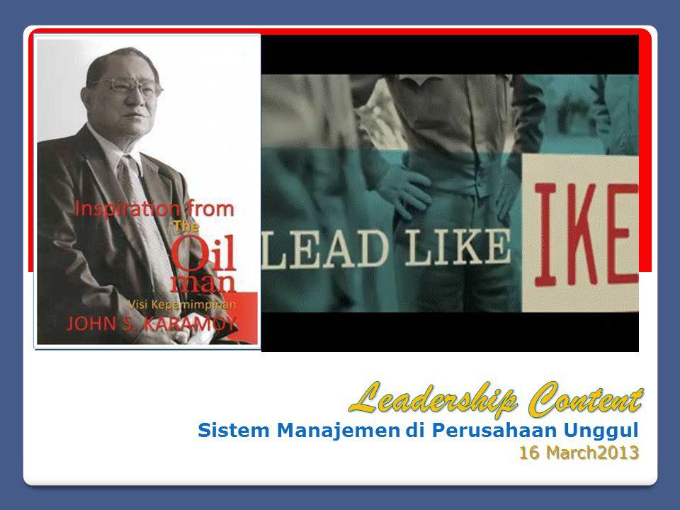 Sistem Manajemen di Perusahaan Unggul 16 March2013 2