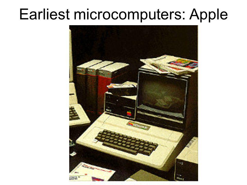 Earliest microcomputers: Apple II