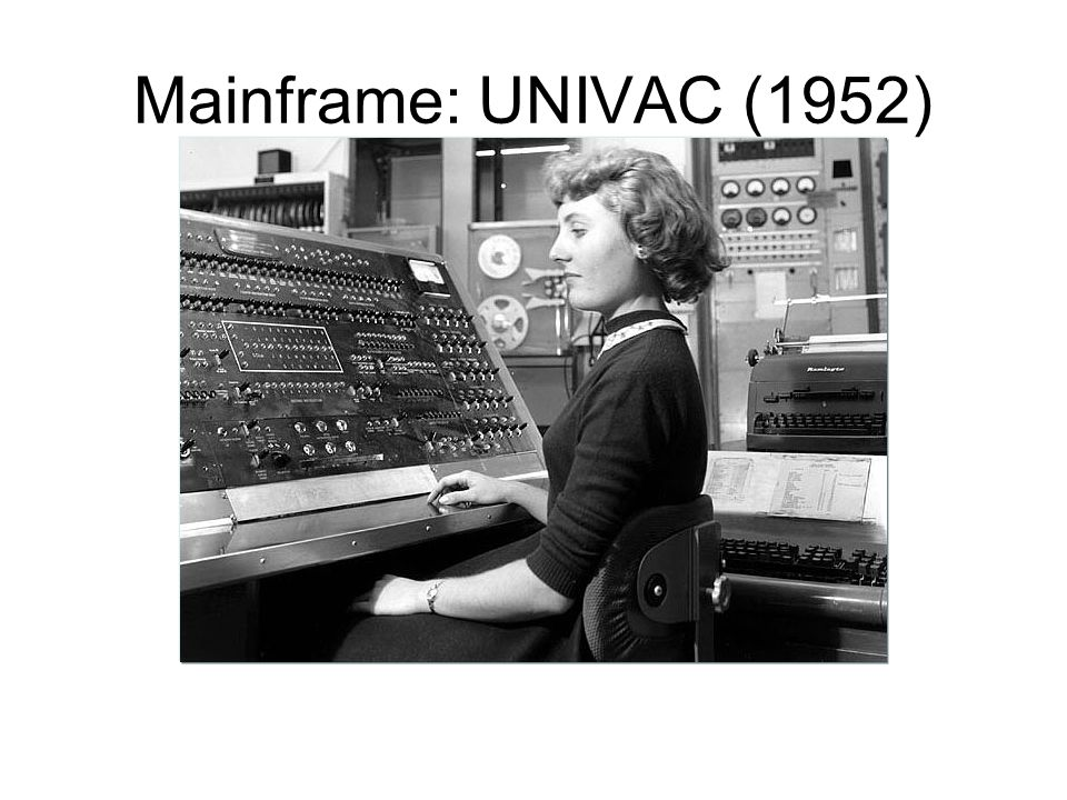 Univac computer: Predicts an election 1952
