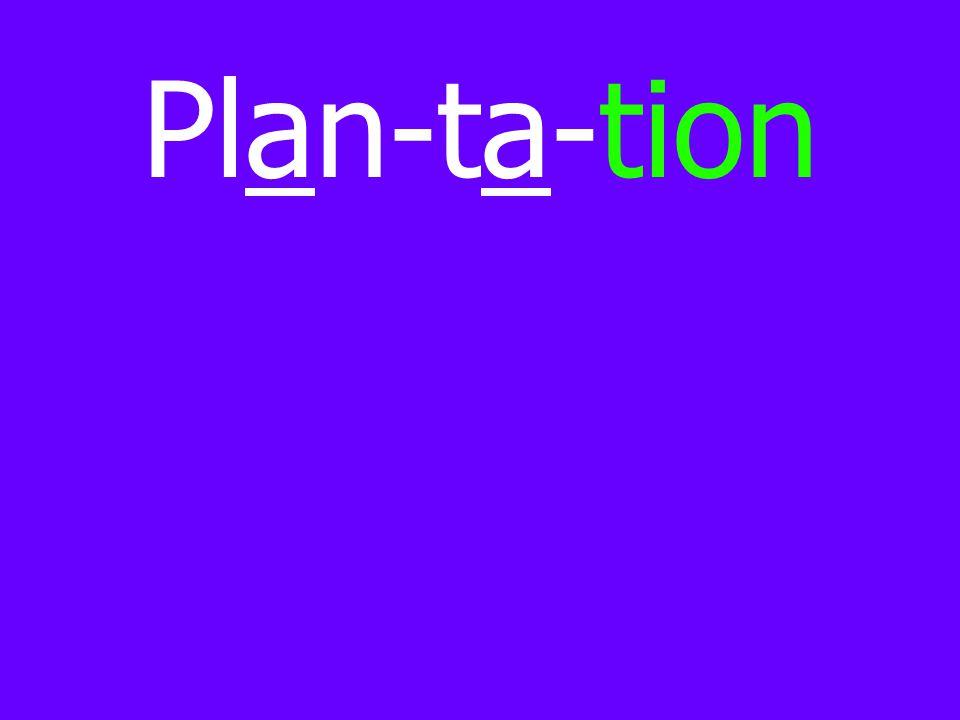 Plan-ta-tion