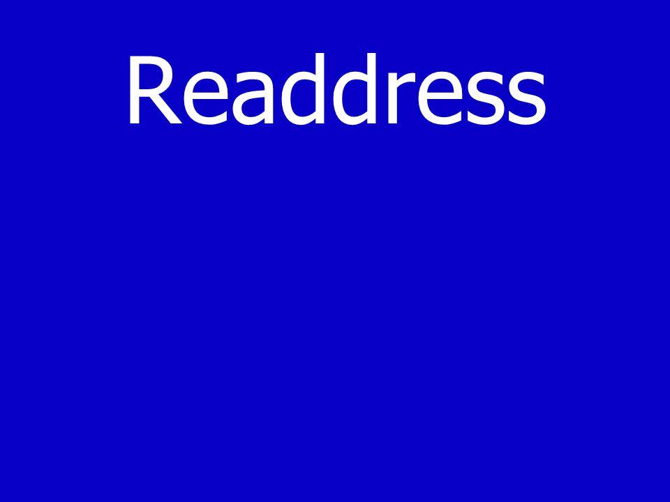 Readdress