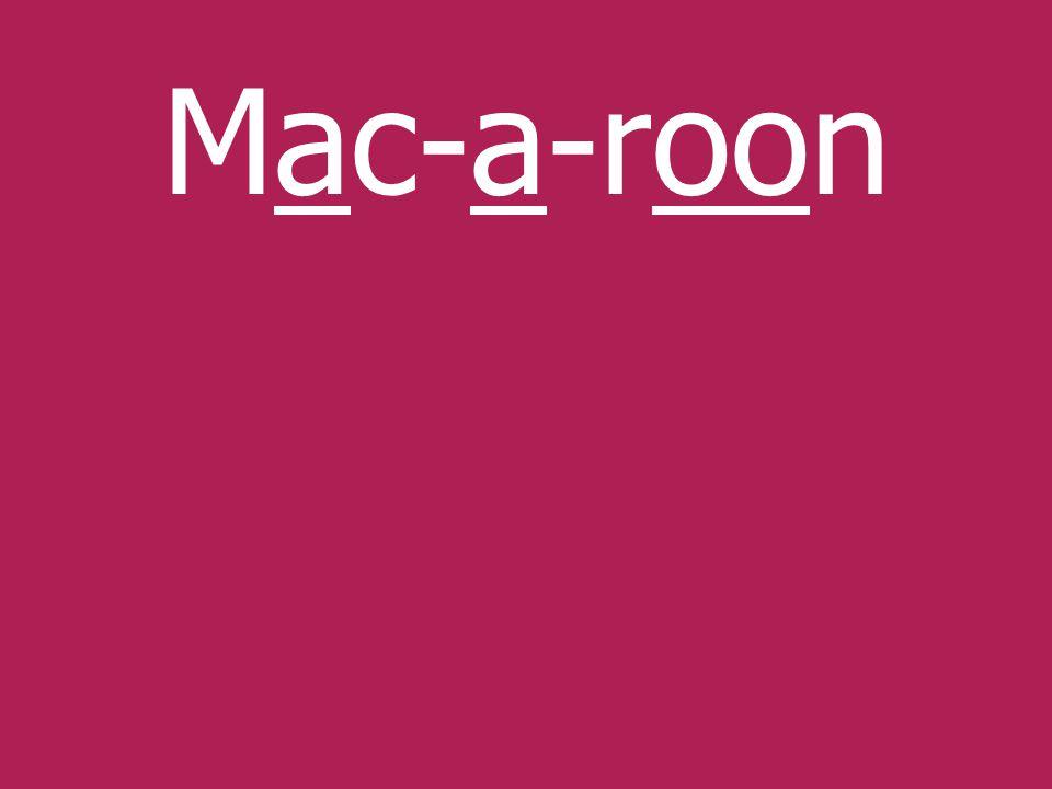 Mac-a-roon