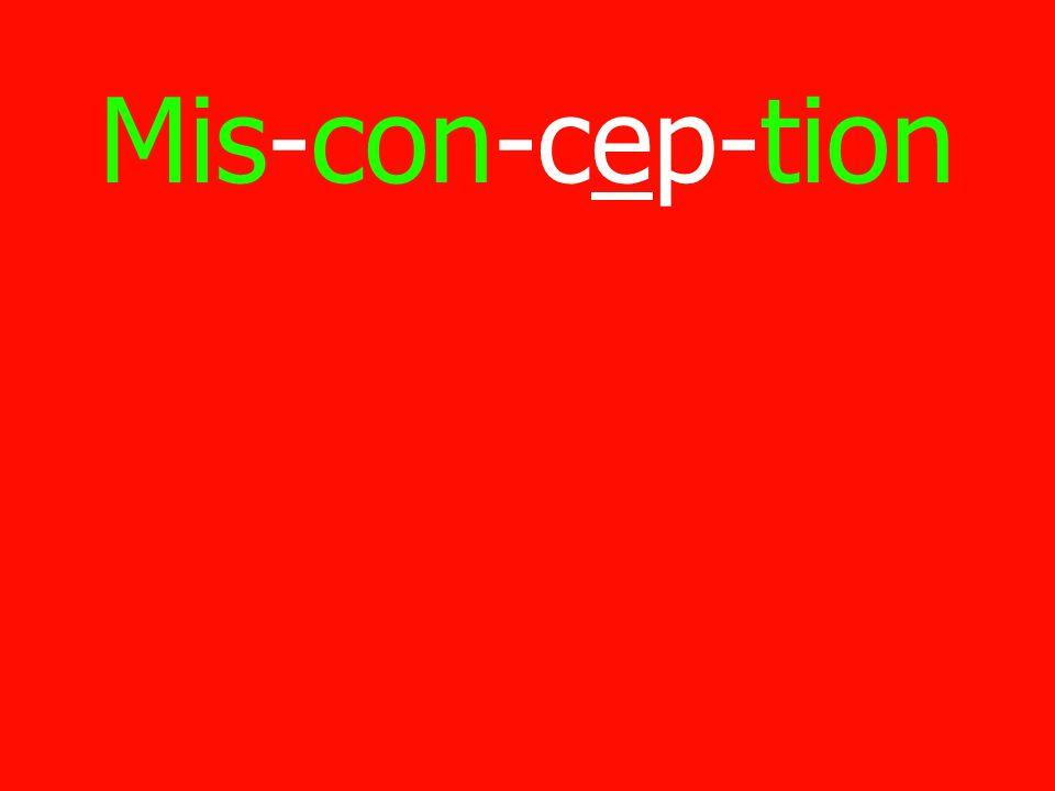 Mis-con-cep-tion