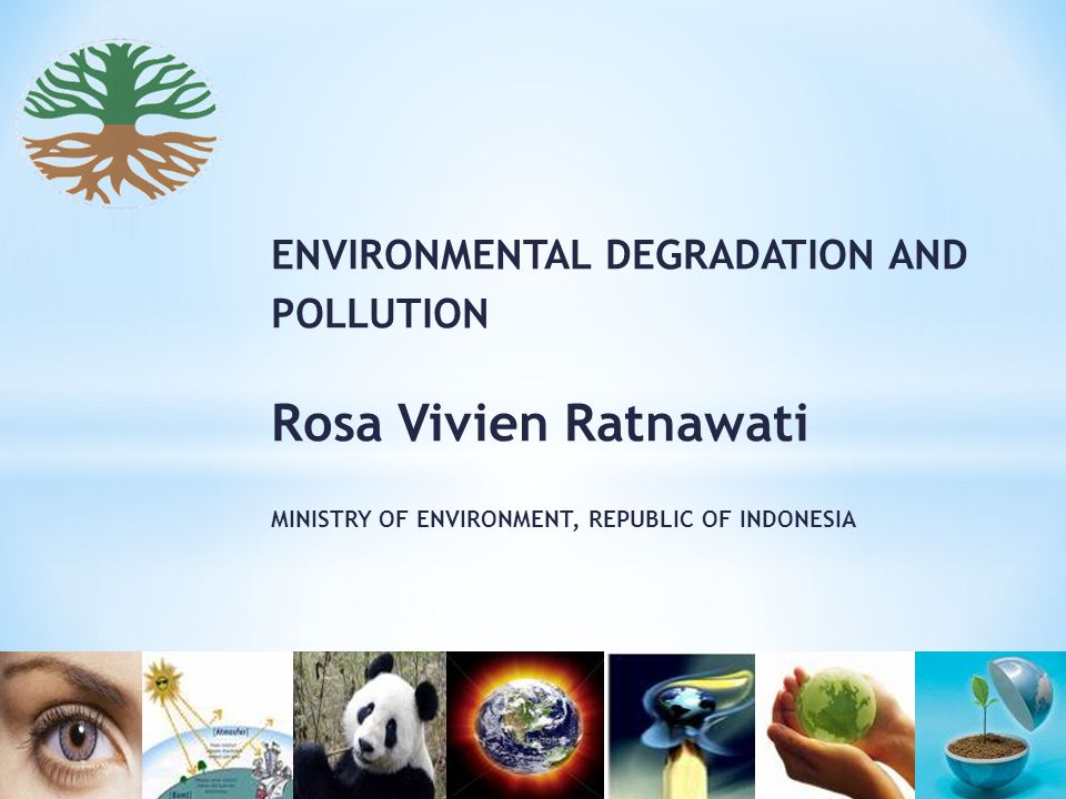 ENVIRONMENTAL DEGRADATION AND POLLUTION Rosa Vivien Ratnawati MINISTRY OF ENVIRONMENT, REPUBLIC OF INDONESIA