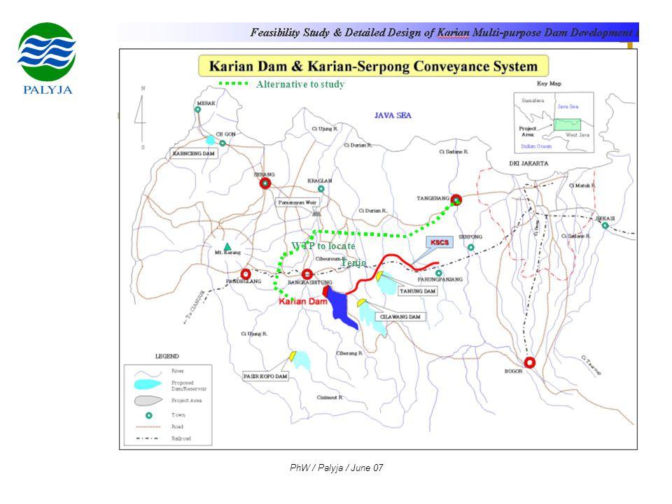 PhW / Palyja / June 07 Tenjo Alternative to study WTP to locate