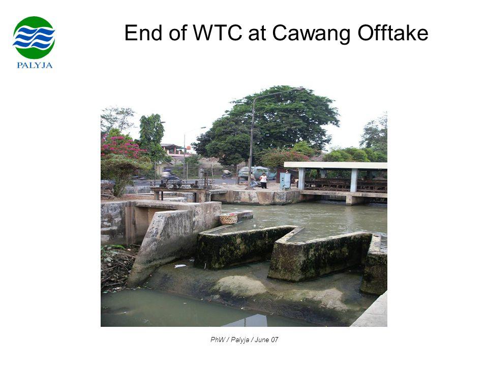 PhW / Palyja / June 07 End of WTC at Cawang Offtake