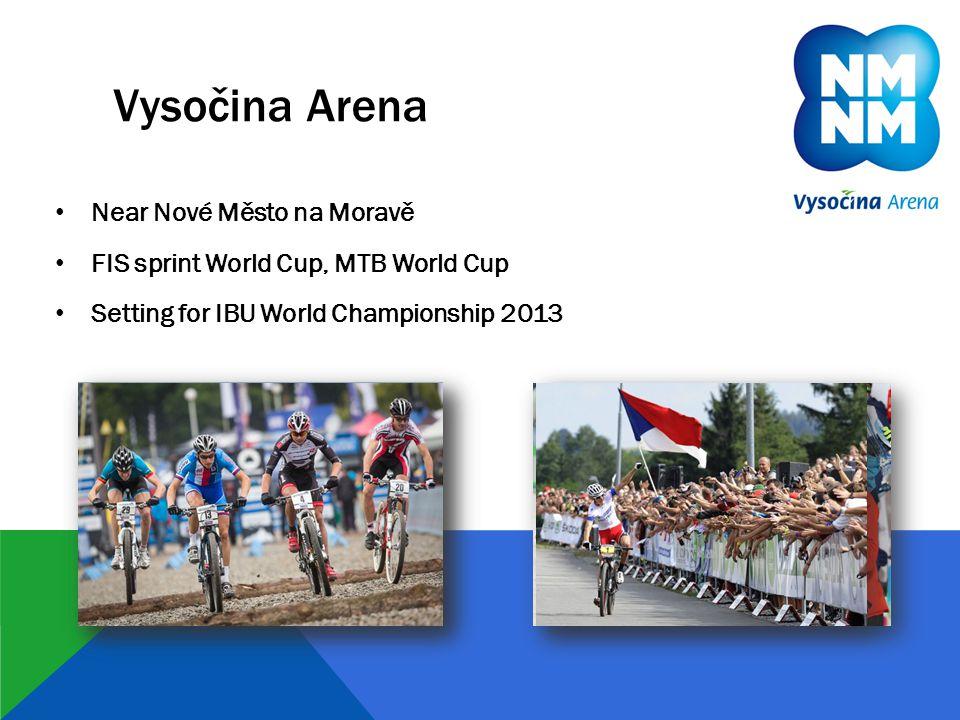 Vysočina Arena • Near Nové Město na Moravě • FIS sprint World Cup, MTB World Cup • Setting for IBU World Championship 2013