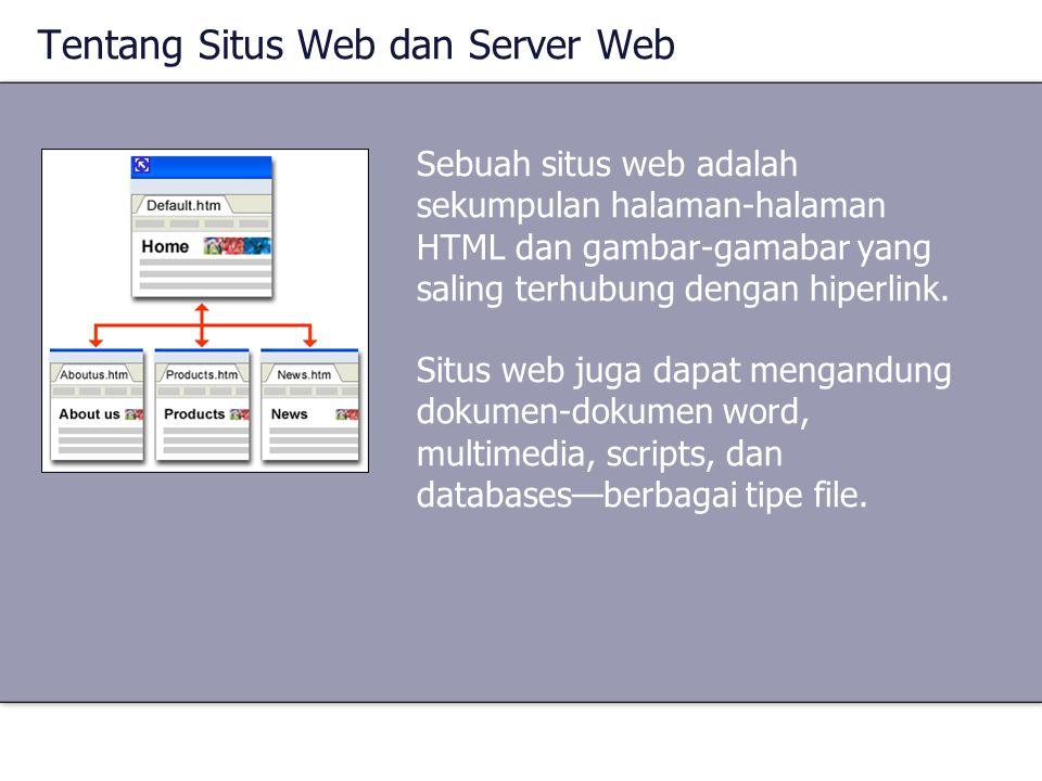 Sebuah situs web adalah sekumpulan halaman-halaman HTML dan gambar-gamabar yang saling terhubung dengan hiperlink. Situs web juga dapat mengandung dok